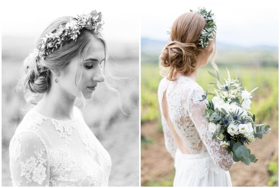 la mariée dans les vignes au chateau des ravatys