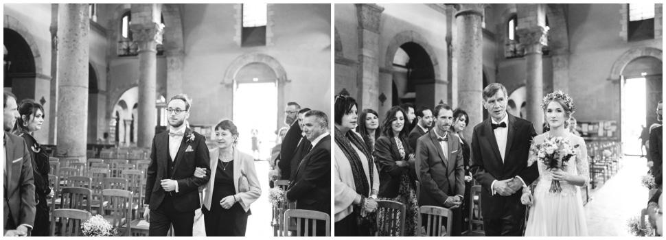 entrée des mariés dans l'église