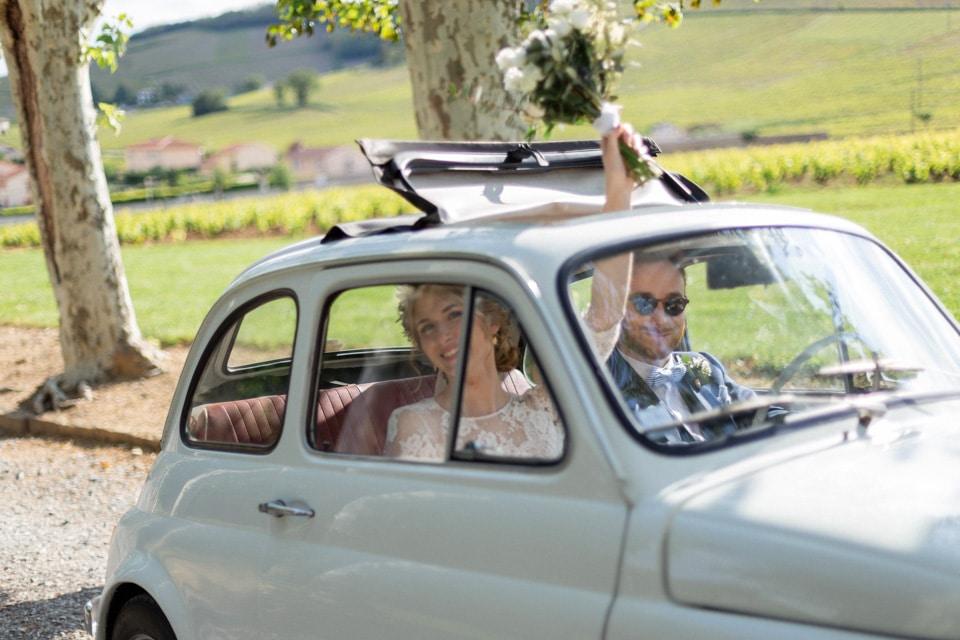 arrivée des mariés au chateau des ravatys