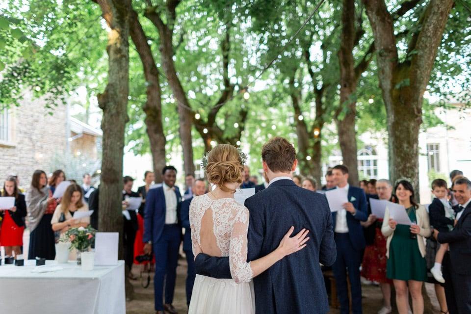 cocktail de mariage au chateau