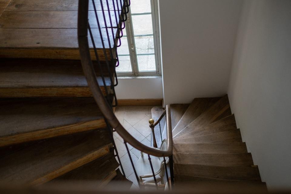 escalier du chateau de barbirey