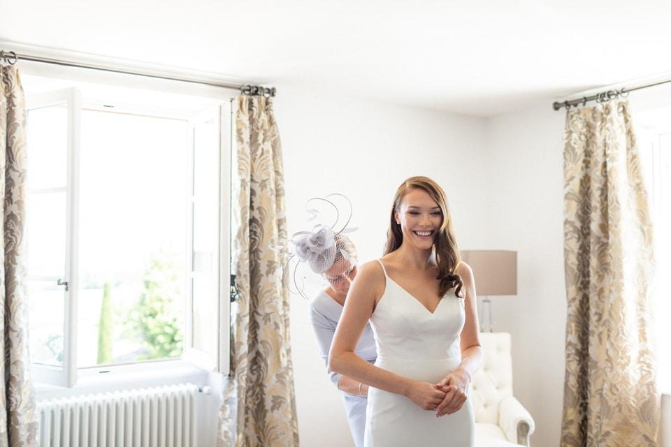 habillage de la mariée dans le beaujolais