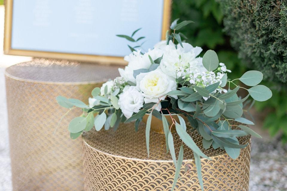 décoration florale au domaine de la javernière dans le beaujolais