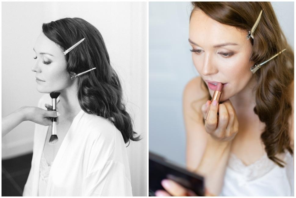 maquillage de la mariée dans le beaujolais