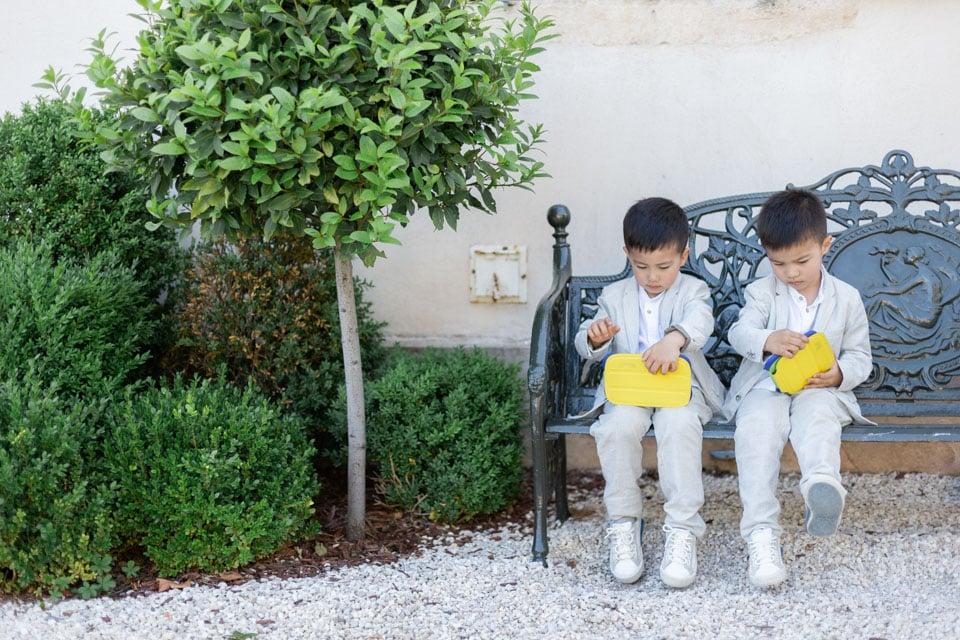 enfants durant le cocktail au domaine de la javernière