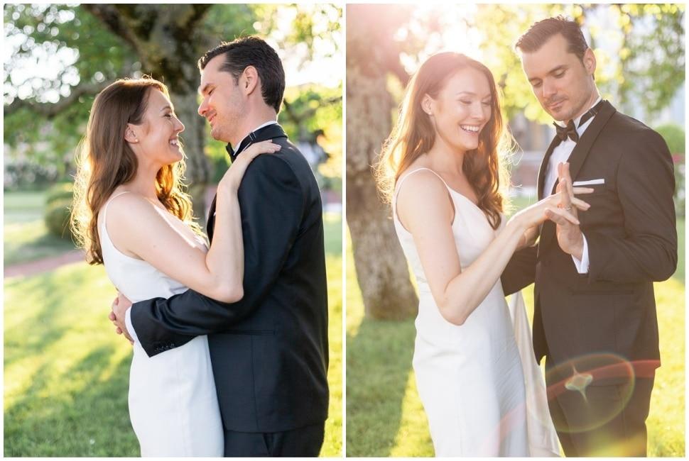 photo de couple de mariage dans le beaujolais près de lyon