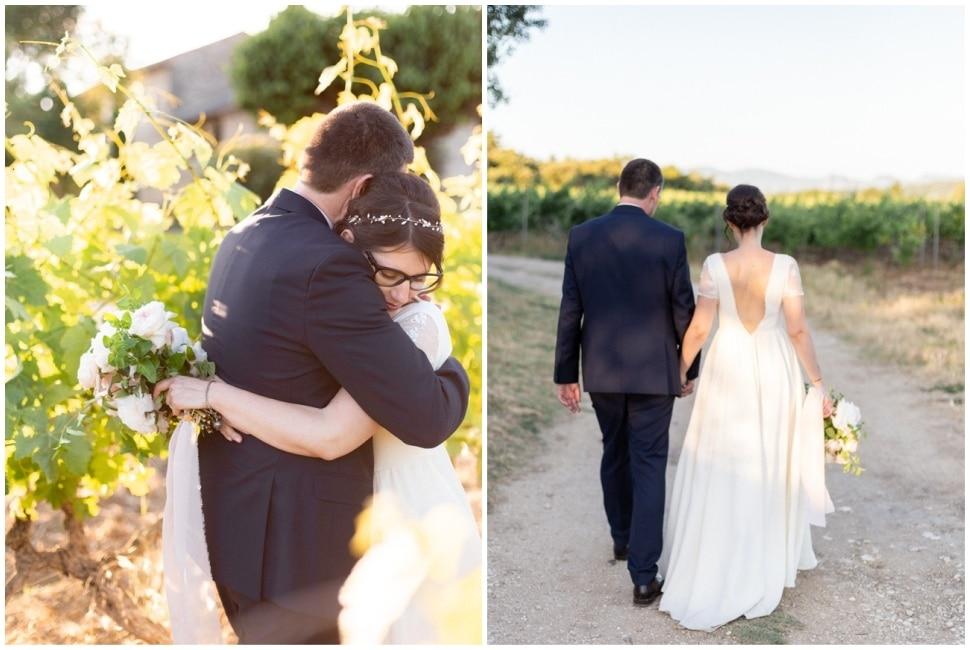 les mariés dans la drome provencale près de grignan