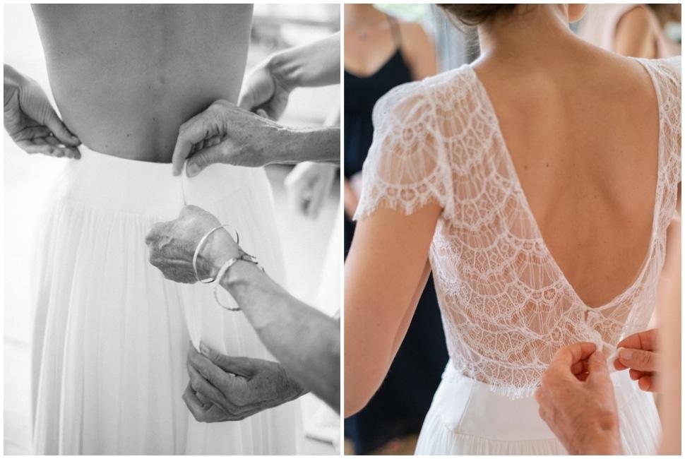 habillage de la mariée en bourgogne