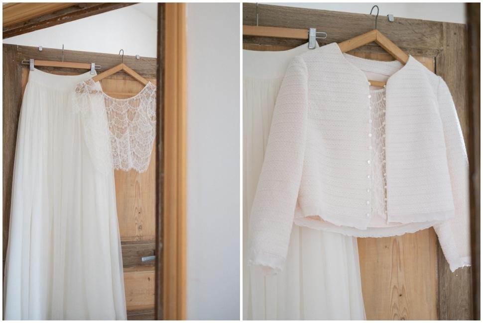 la tenue de la mariée au chateau