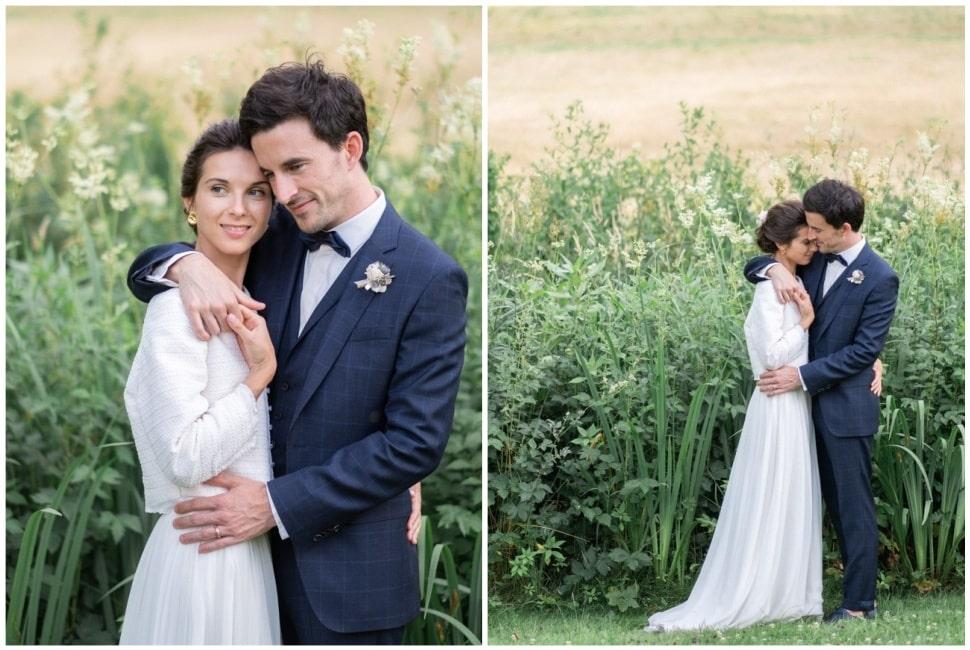 photo de couple aux jardins de barbirey