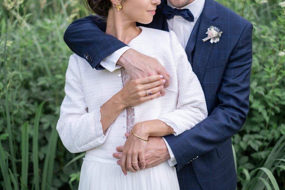 zoom sur les tenues des mariés