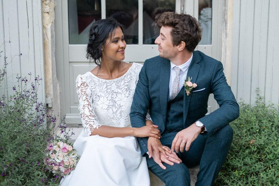 photo de mariage dans la drome une fin de journée d'été