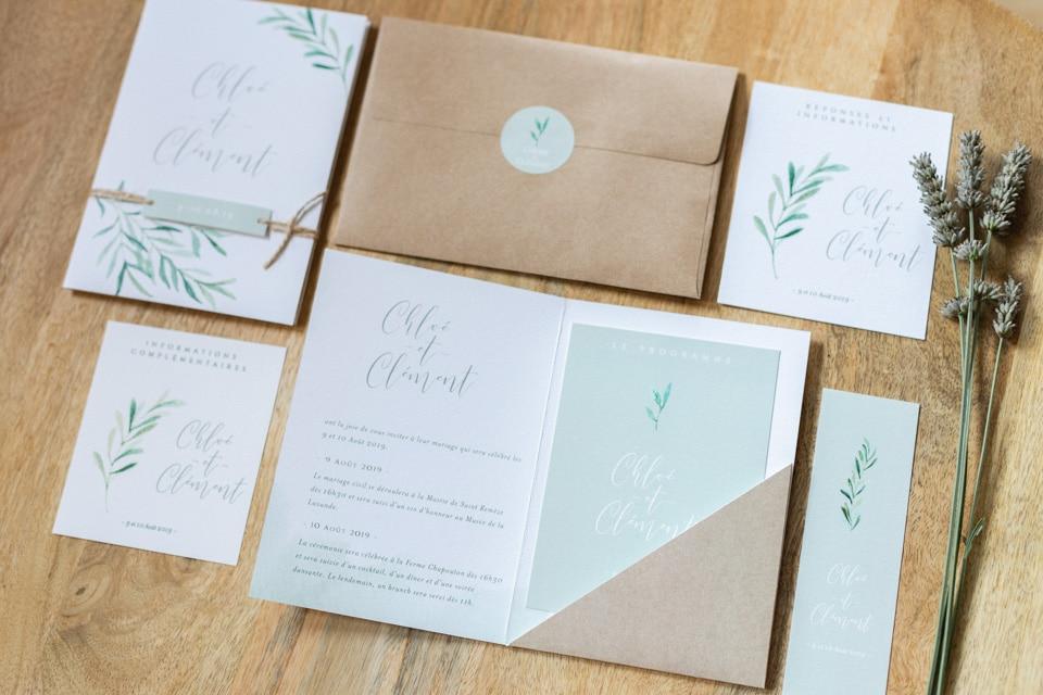 jolies invitations de mariage