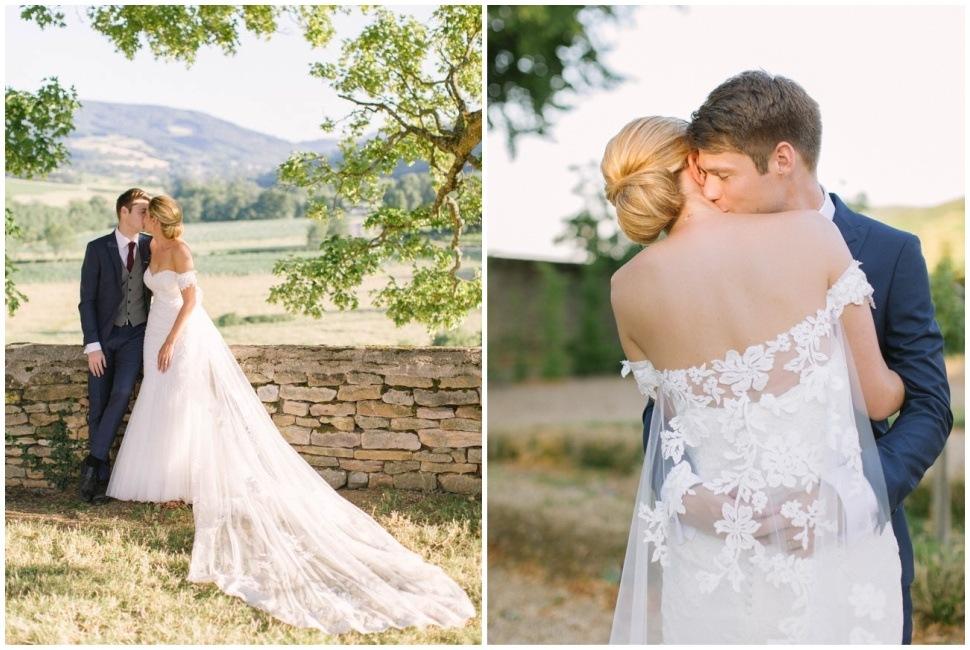 photo de couple de mariage au chateau de pierreclos