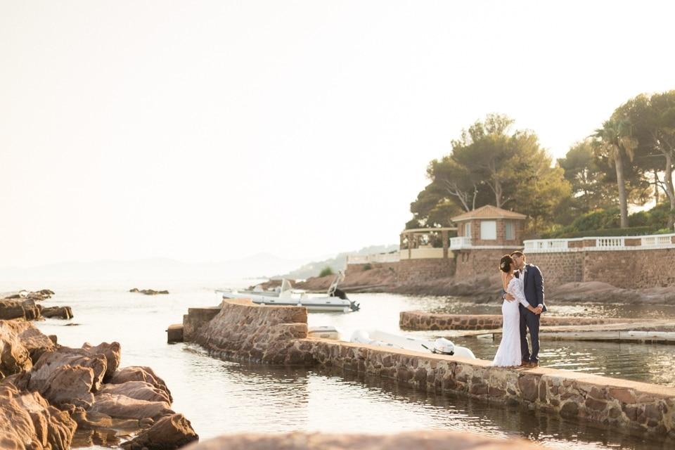 mariage en bord de mer à saint raphael cote d'azur