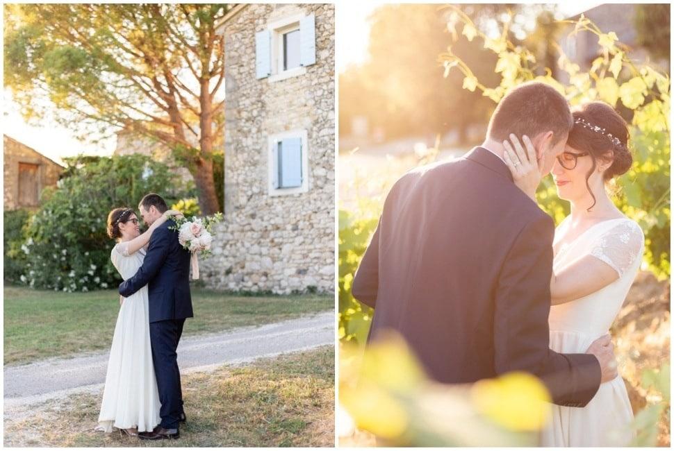 photo de mariage dans la drome provencale près de grignan