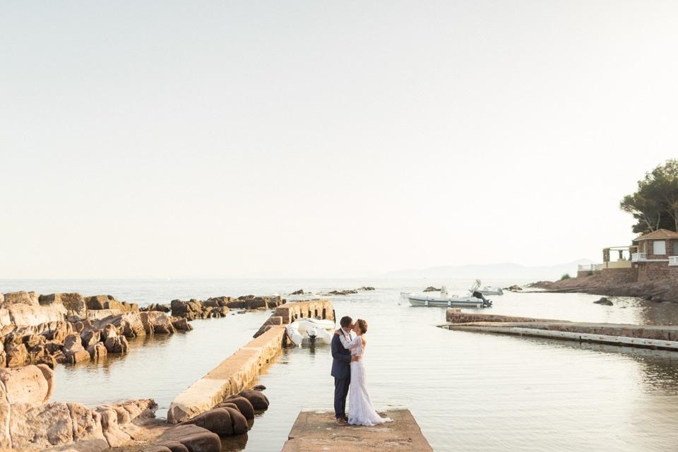 mariage a saint raphael sur la cote d'azur à la villa mauresque