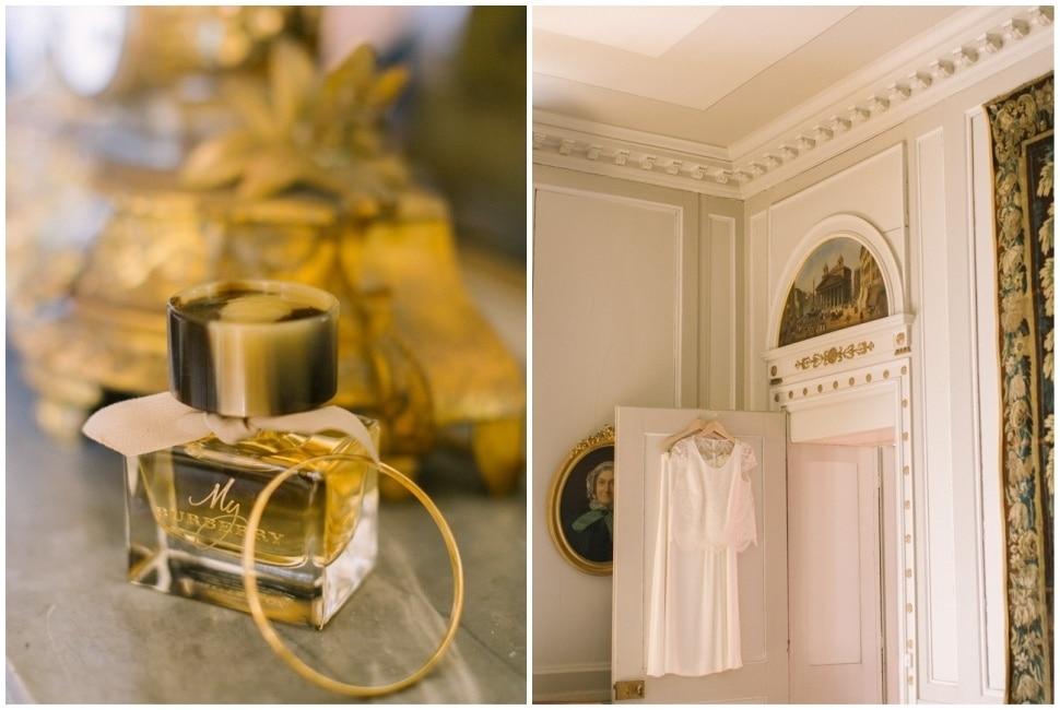 détails des préparatifs de la mariée dans sa chambre au chateau de saint trys