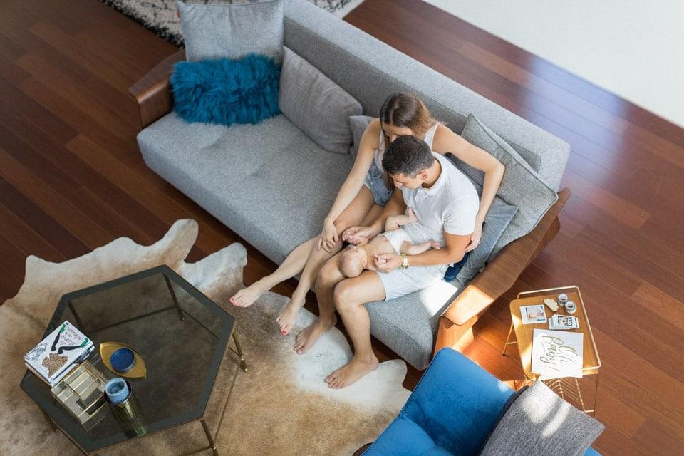 séance photo de famille à domicile à lyon