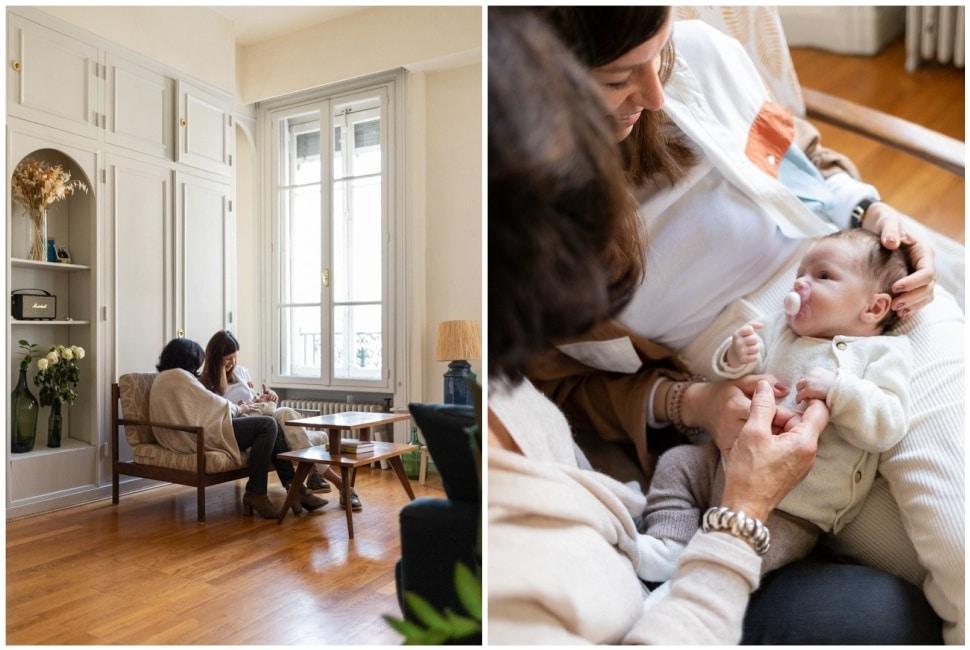 photo de naissance lifestyle à domicile à lyon