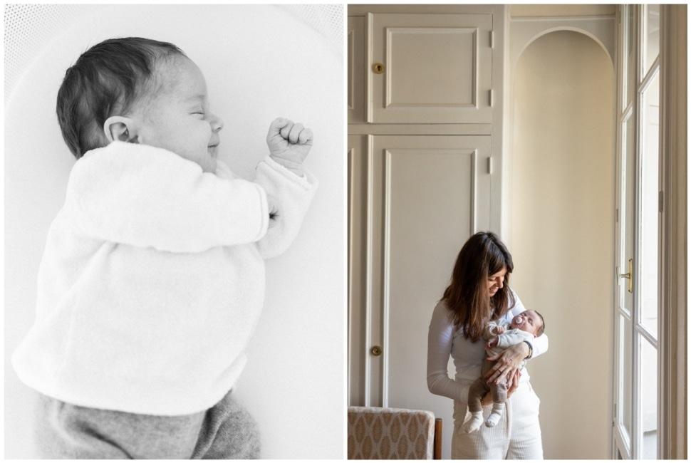 séance photo lifestyle naissance bébé à lyon