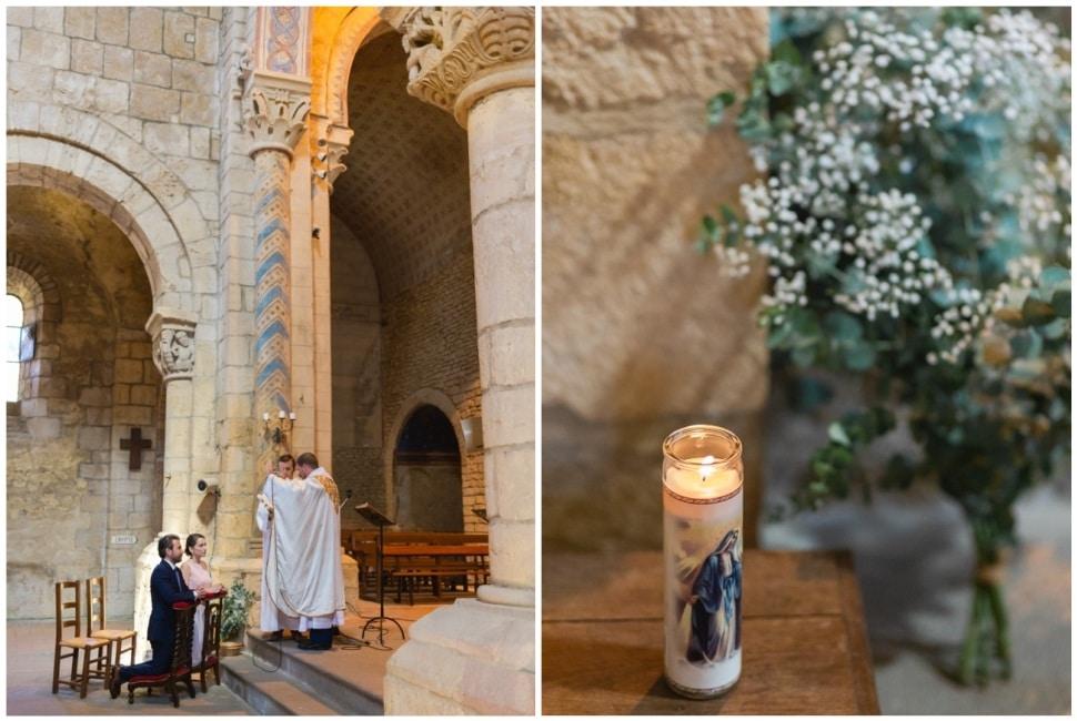 cérémonie religieuse de mariage a anzy le duc