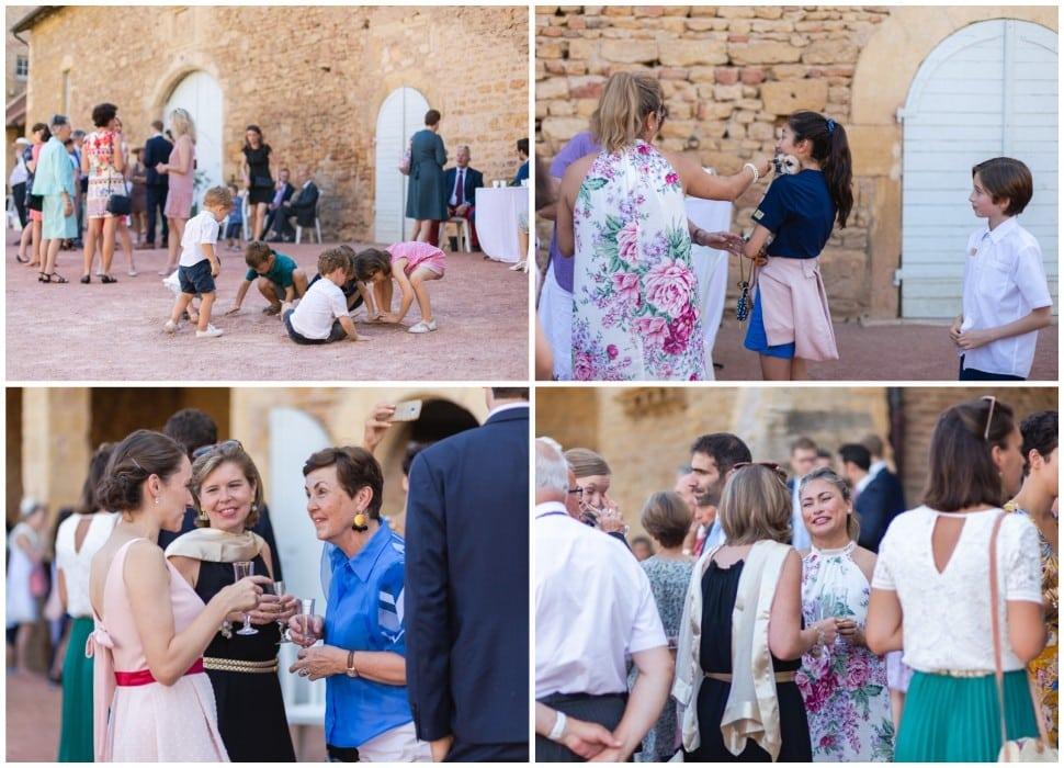 moments volés pendant le cocktail du mariage